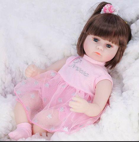Boneca bebê Reborn Menina realista a pronta entrega - Foto 4
