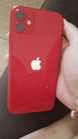 Vendo IPhone 11 vermelho - Foto 5