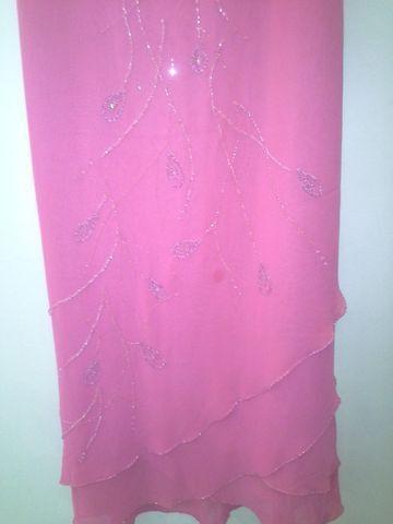 Vestido Logo De Festa Yucci Tam 42 Cor Rosa Em Ótimo Estado