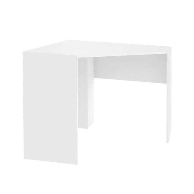 Mesa de Canto para Computador 90x90cm Branco Fosco - Foto 2