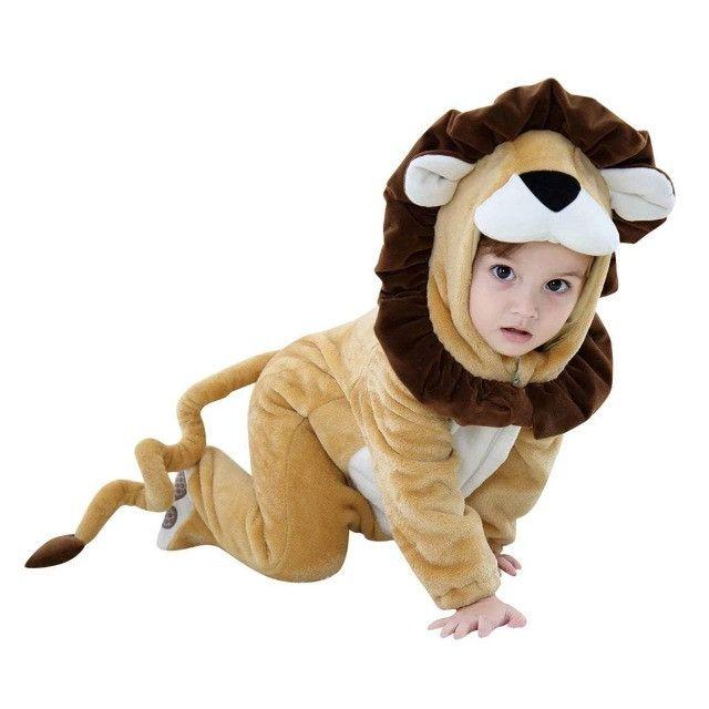 Macacão Bebê Fantasia Rei Leão - Foto 2
