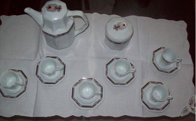 Jogo de café em porcelana Schmidt para 6 pessoas - octogonal - Foto 2