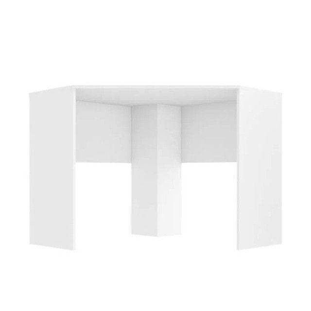 Mesa de Canto para Computador 90x90cm Branco Fosco - Foto 3