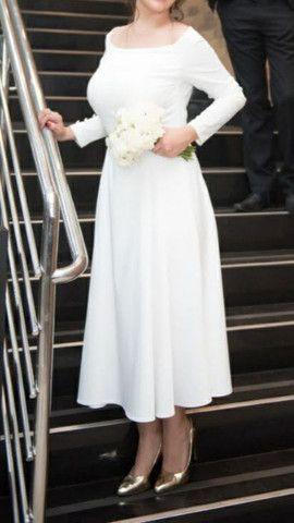 Vestido de noiva perolado finíssimo de grife novo! - Foto 3