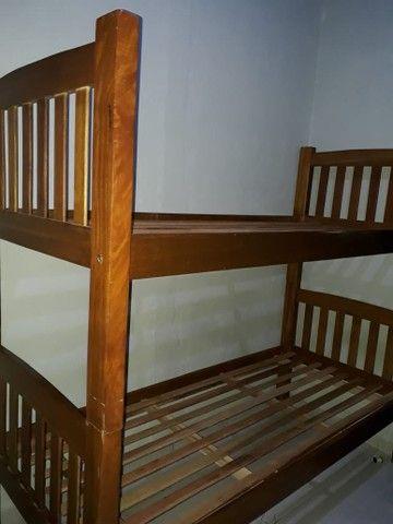 Beliche madeira e colchao solteiro