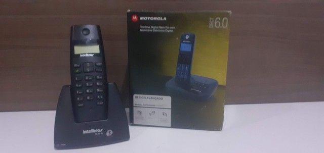 Telefone digital sem fio com Secretária eletrônica digital - Foto 2