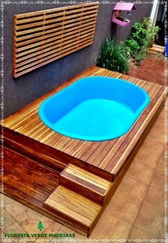 Kit piscina com deck instala o materiais de for Piscina alcampo