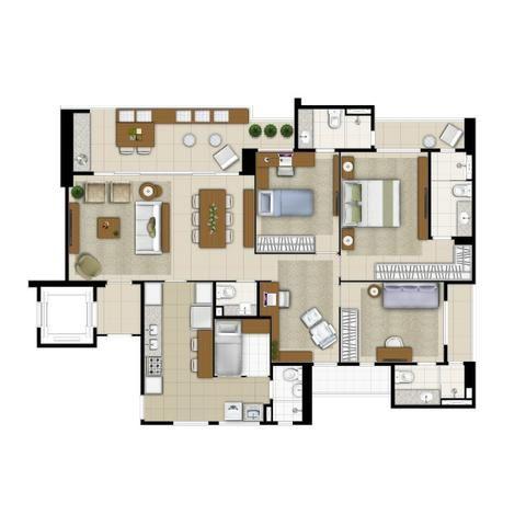 Imperator Residence, 138m2 e 145m2, 3 Suítes, DCE, 3 Vagas. Preços e Condições Especiais - Foto 18