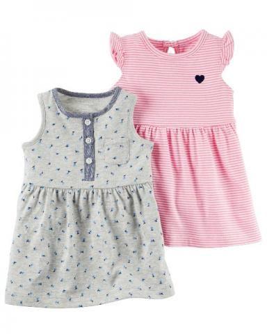Conjunto de 2 vestidos de verão menina original carters bebe