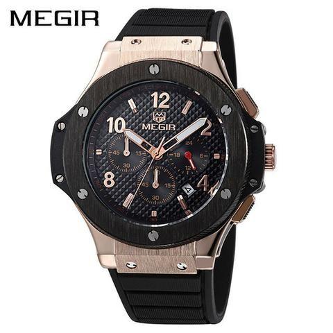 8cd7ed61bf9 Relógio Megir 3002 Original Dourado - Bijouterias