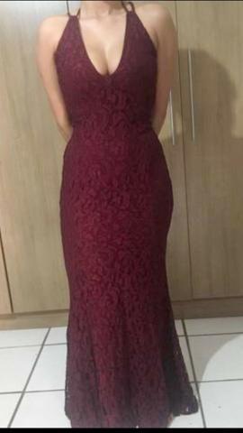Vestido Marsala Vinho