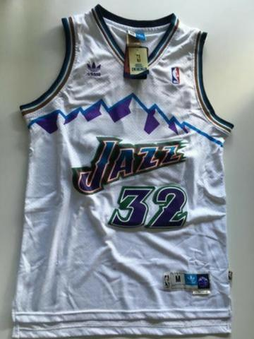 sale retailer 63e3e ca72b Nba Basquete Utah Jazz Retro Camisa Karl Malone