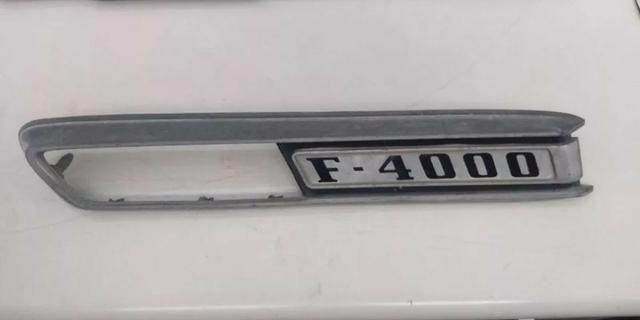 Emblema Ford F4000 Antiga Raridade Reliquia Original Le