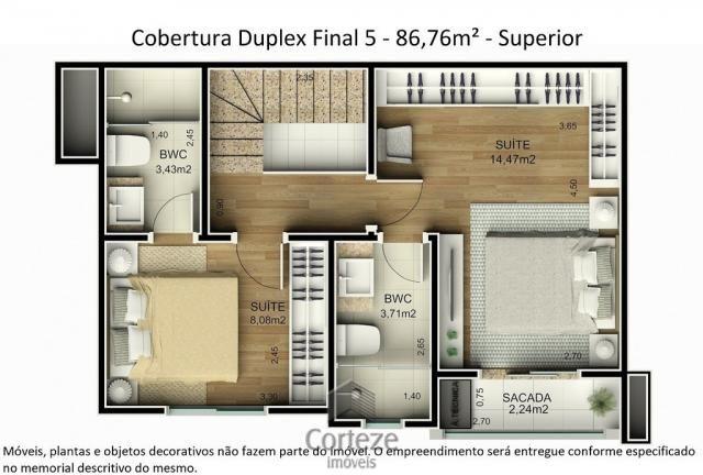 Cobertura duplex 3 quartos no Água Verde - Foto 13