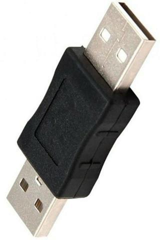 Conector Adaptador Usb Macho X Macho Para Emenda Cabo