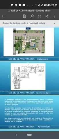 Maravilhoso apartamento novo, 2/4, vista mar em Praia do Flamengo - Foto 2