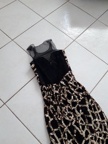 Vestido de formatura com transparência e bordado paetê - Foto 2