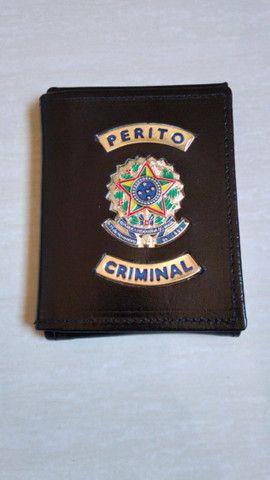 Carteira em couro para Perito Criminal - Foto 4