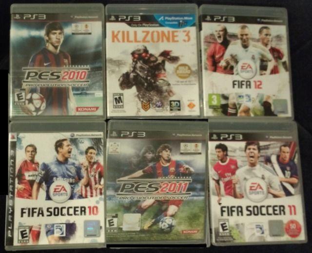6 Jogos Jogos de PS3 - FIFA, PES, e Killzone 3