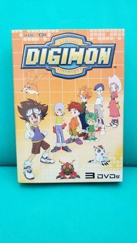 Box De Dvds Digimon Volume 1. Usado. Em Perfeito Estado!