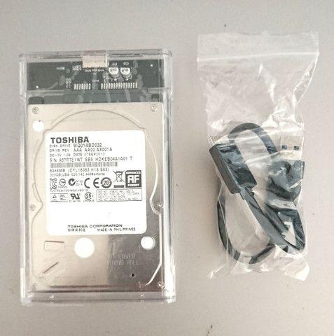 Case Transparente USB 3.0 para HD E SSD - Foto 5