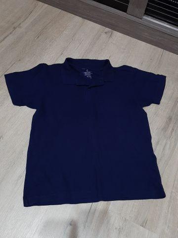2 camisas polo G (azul marinho e verde)
