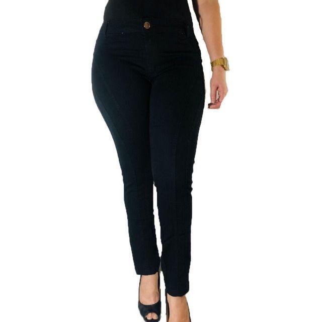 Kit 3 Calças Jeans Femininas com lycra - Frete grátis para SP - Foto 4
