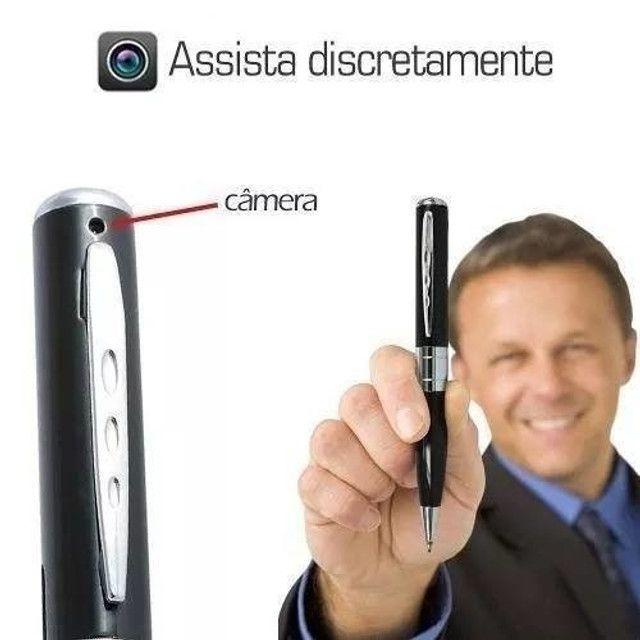 Caneta Espiã Câmera Filmadora Filma Foto Excelente Resolução - Foto 2