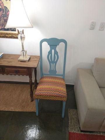 Vendo cadeira retro madeira