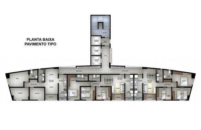Apartamento na planta 3 quartos 67m 1 suite na ilha do retiro nascente lazer completo - Foto 16