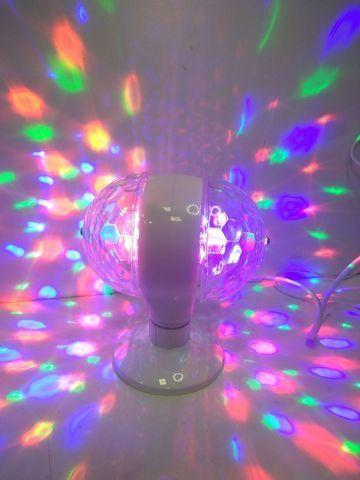 Lâmpada Led Giratória RGB Colorido Festa Bola Maluca Bivolt - Foto 3