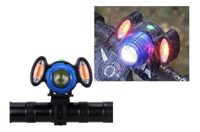 Lanterna Farol Bike Bicicleta 3 Leds T6 Recarregável Usb - Foto 2