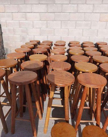 Banqueta de madeiras na mega promoção na loja (31)33545975 - Foto 3