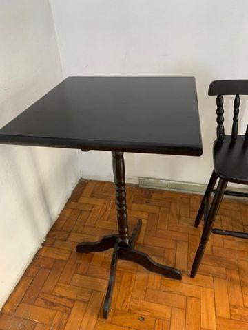 Mesa Bistrô - 2 Cadeiras de Madeira - Foto 4