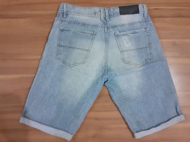Camisao jeans infantil - tam 12 - Foto 6