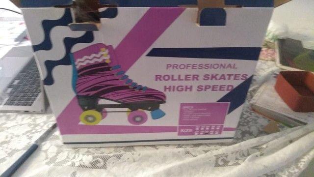 Vendo patins N 37 R$230,00 novo - Foto 2