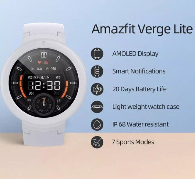 Amazfit Verge Lite GPS Sony,tela Amoled Full Touch Screen. - Foto 4