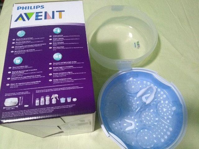 Esterelizador de mamadeira para microondas Avent - Foto 2