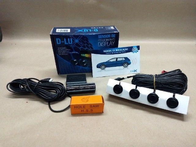 Sensor De Estacionamento Display D-lux Preto - Foto 2