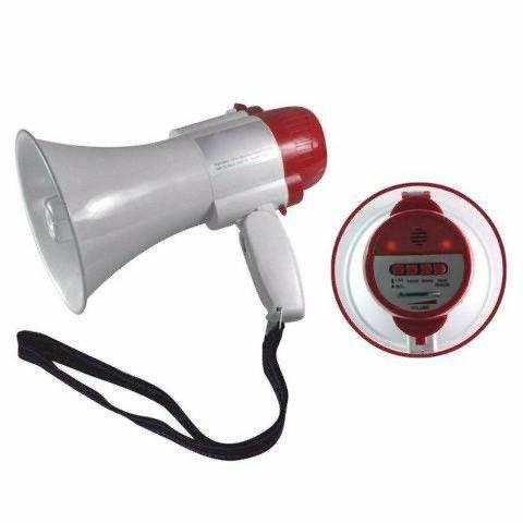 MegaFone com Bateria Recarregável e Gravação de Áudio Lelong Le-997