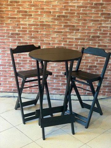 Mesa de madeira com cadeiras para seu bar, jogos de mesas. Conjunto de mesa  - Foto 6