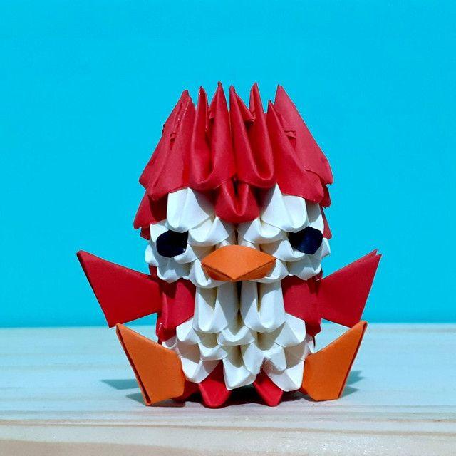 3x Origami De Pinguim. Duas Peças Mais Uma Grátis! - Foto 3
