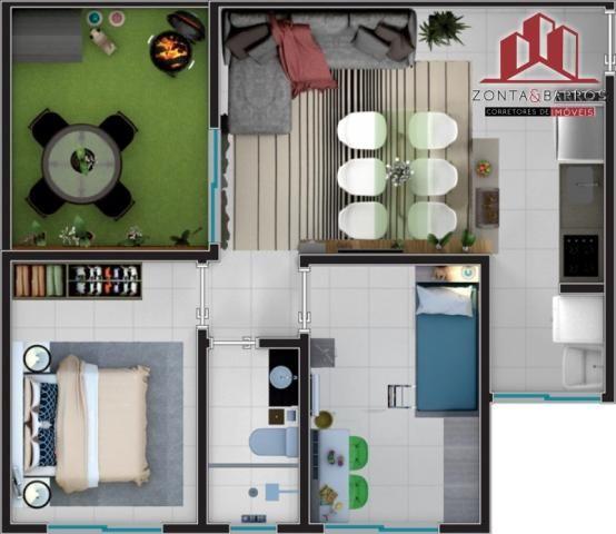 Apartamento à venda com 2 dormitórios em Estados, Fazenda rio grande cod:AP00003 - Foto 17