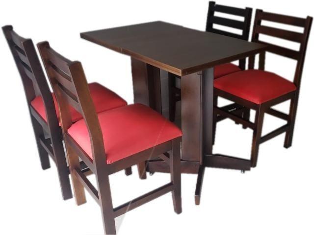 Mesas e cadeiras de madeira para restaurantes bares cafeterias lanchonetes