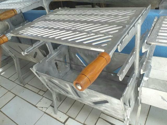 Churrasqueira G aberta aluminio batido