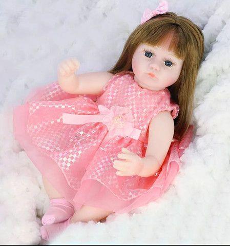 Boneca bebê Reborn Menina realista a pronta entrega - Foto 2