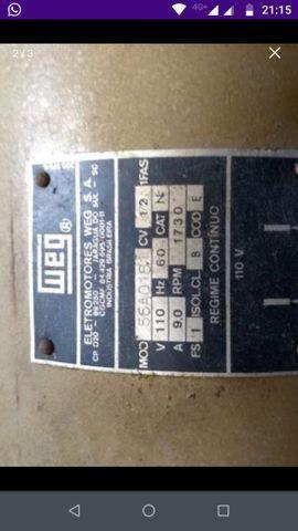 Motor 1/2 HP usado em máquina de lavar
