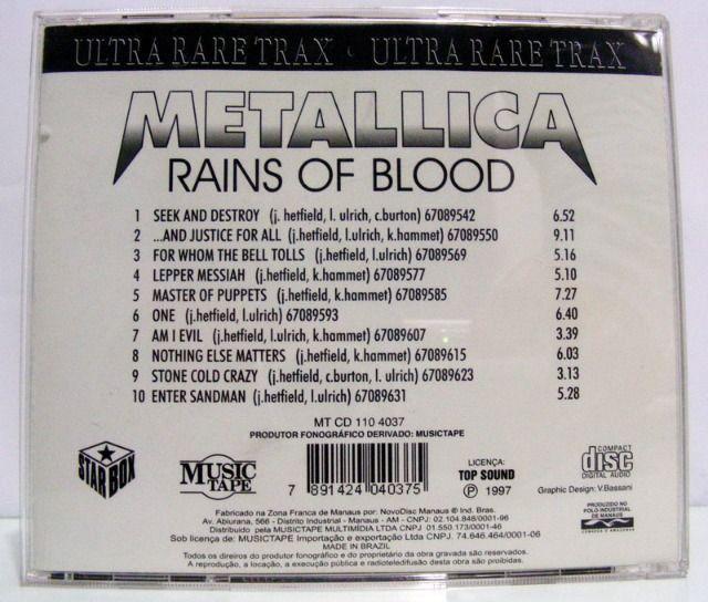 CD Metallica Rains of Blood - Foto 2