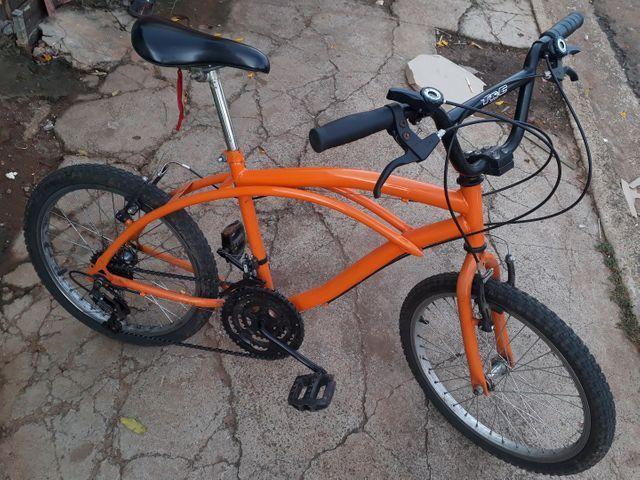 Vendo Bicicleta Nova Só Está Suja aceito Proposta Celular  - Foto 2
