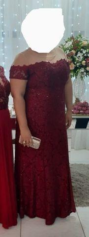 Vestido de festa Plus size marsala - Foto 2